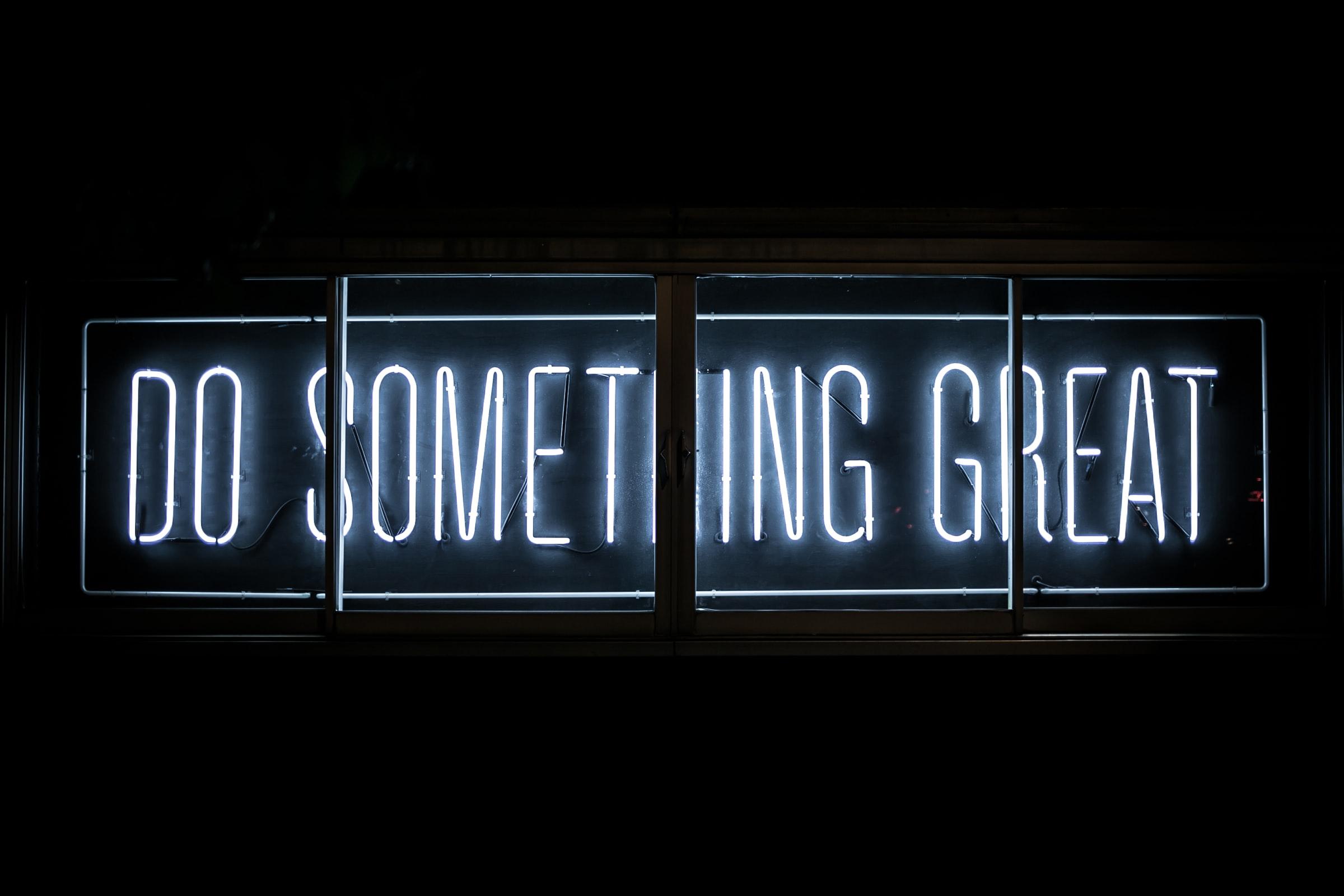 neon sign-Vaudra-International-do-something-great